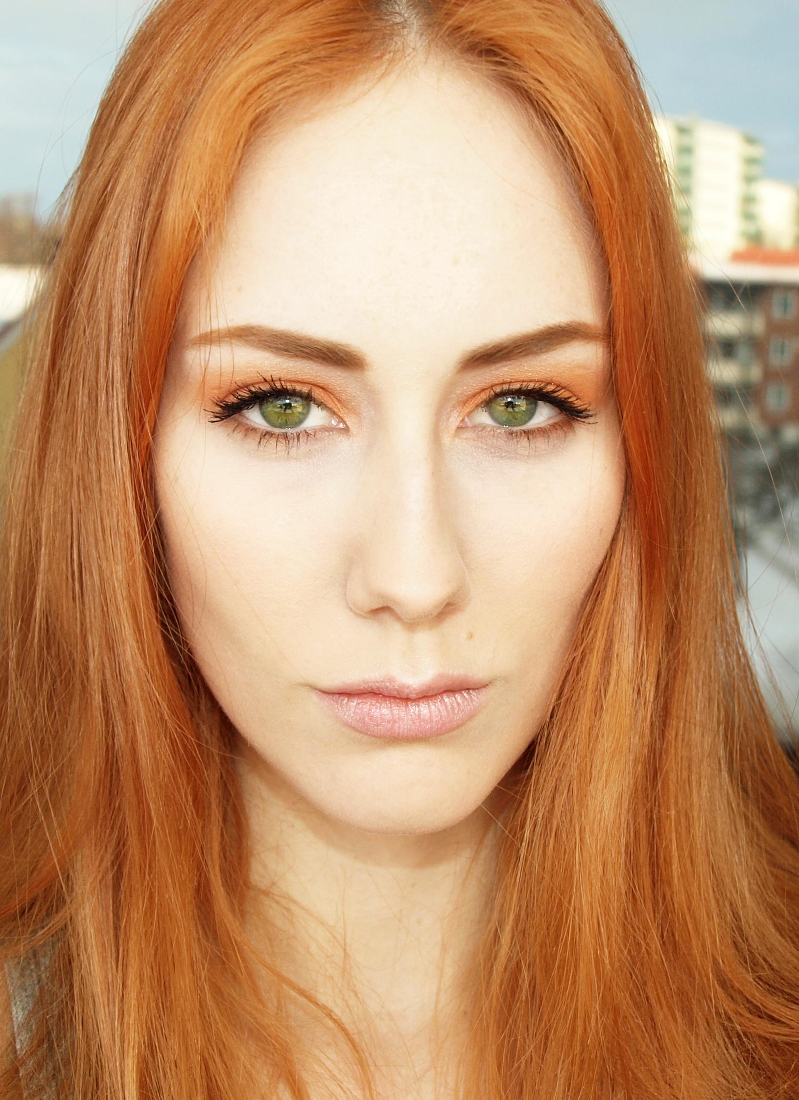 В какой цвет покрасить брови если волосы рыжие