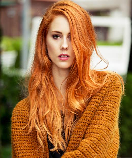 orange hår