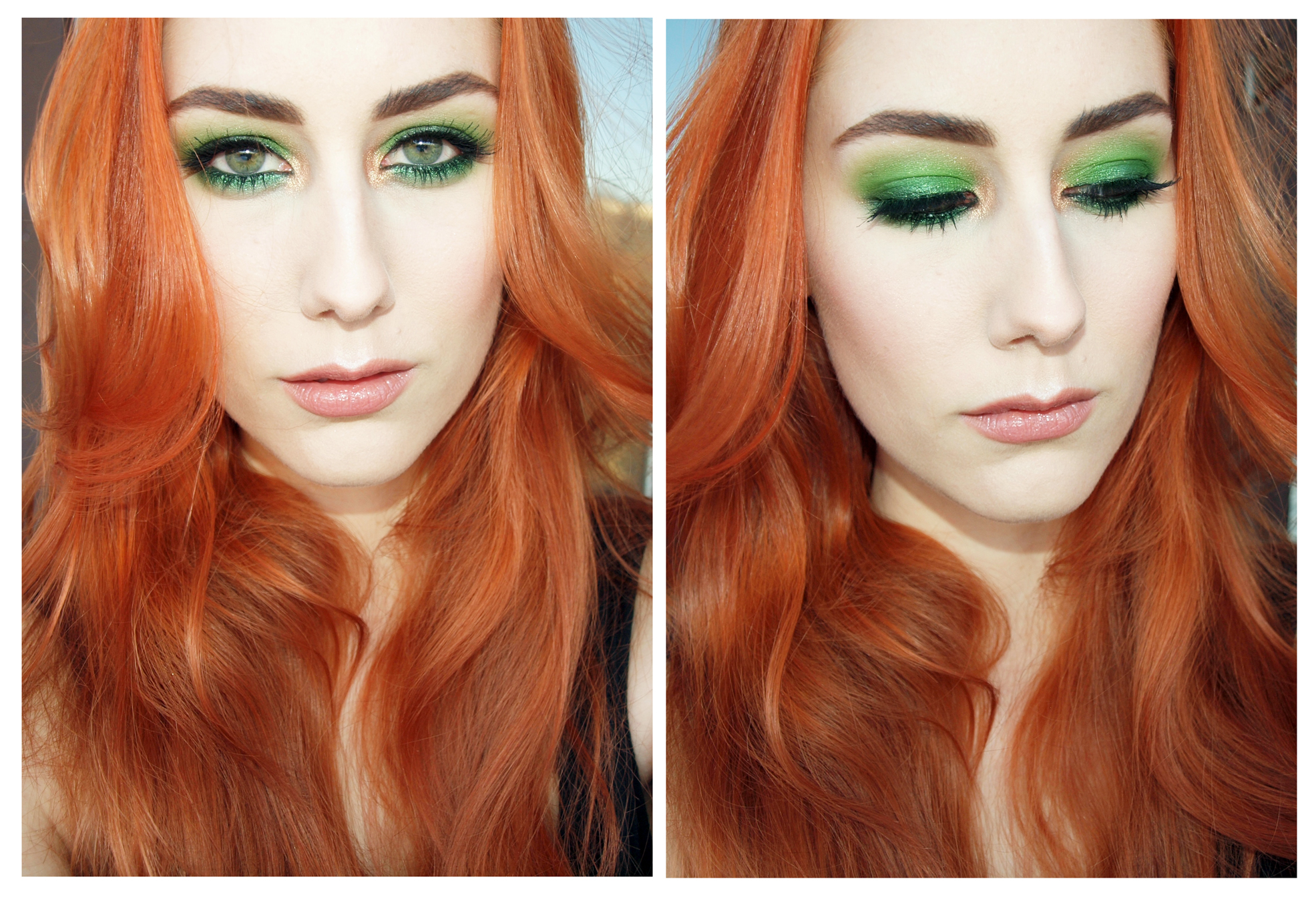 green_smokey_eyes