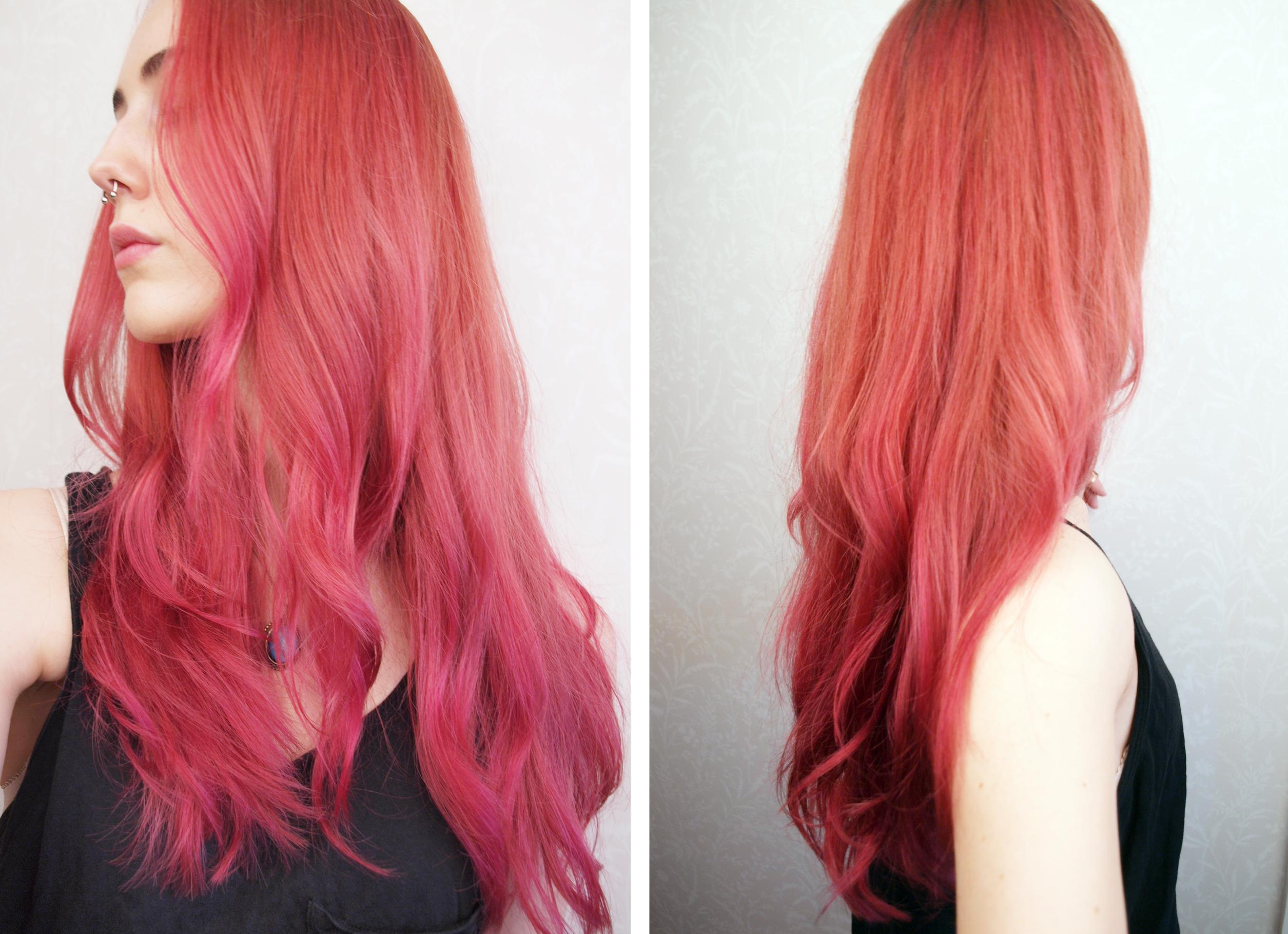hur får man bort rosa hår